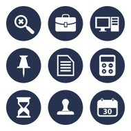 office tools icon set