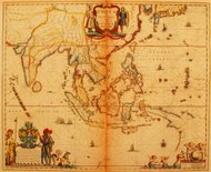 India and Southeast Asia 1635 | Antique Map Collection