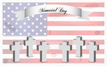 Memorial Day background, last monday of May