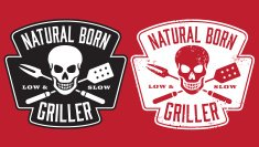 Natural Born Griller barbecue vector image