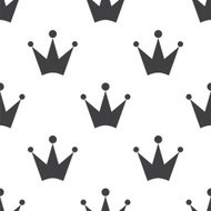 crown, vector seamless pattern