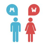 Man and lady toilet, Vector illustration