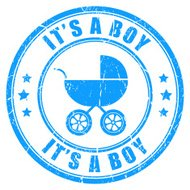 It's a boy stamp
