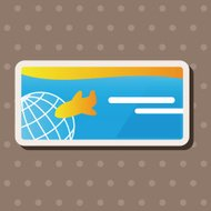 air ticket theme elements