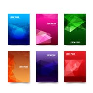 Abstract background - Set of simple colorful geometry element