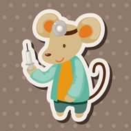 animal mouse doctor cartoon theme elements