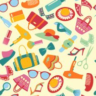 Seamless Pattern   of  accessories  background