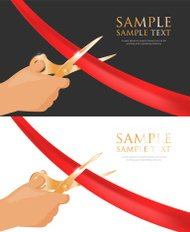Vector template of Grand opening invitation cards