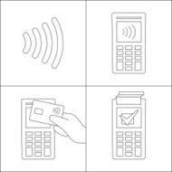 Contactless payment with card, manual