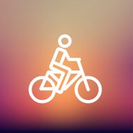 Racing bike thin line icon
