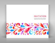 Invitation with floral elements.