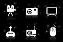 night star icons - multimedia