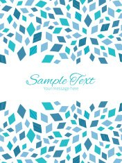 Vector blue mosaic texture vertical double borders frame invitation template