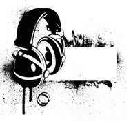Grunge Headphone Banner