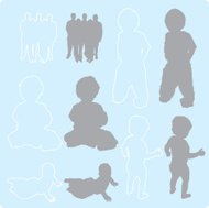 Family Silhouettes 1 (vector)