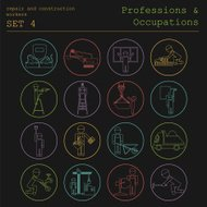 Professions and occupations. Repair, construction workers