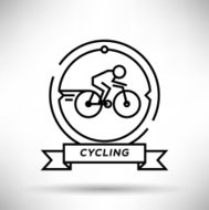 Cycling Sport Stroke Icon