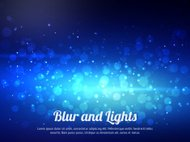 Abstract blue colorful bokeh background. Festive background with defocused lights.