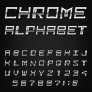 Chrome Alphabet Vector Font.