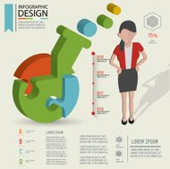 Science three dimension info graphic design,clean vector