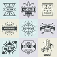 Assorted retro design insignias logotypes set 10.