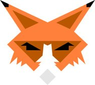 Stylised Cartoon Sly Fox Icon