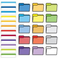 Vector set of office supplies