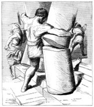 The death of Samson (Victorian engraving)