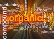 Organic compound background concept glowing