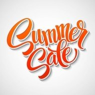 Summer sale message on orange background