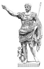 Augustus roman emperor illustration