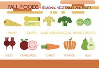 Fall foods seasonal vegetables and fruits