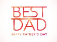 Stylish text for Happy Father's Day celebration.