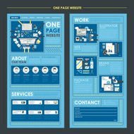 workplace concept flat one page website template