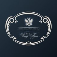 Vector vintage frame with ornament