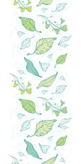 Vector lineart spring leaves vertical border seamless pattern background