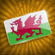 Flag of Wales with old texture.