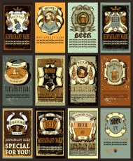 Beer label design set.