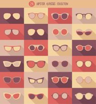 glasses set, hipster glasses, vector illustration