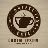 Coffee cup icon vector, Creative design cafe idea