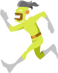 Running Green Man Character