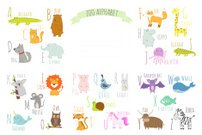 Cute zoo alphabet