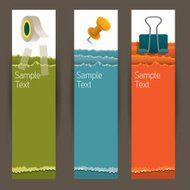 Adhesive Tape, Paperclip, Pin, Office and Stationery Banner