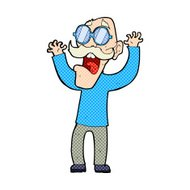 cartoon old man in glasses