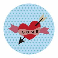 Valentine's Day love heart flat icon elements background,eps10