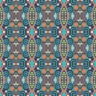 authentic seamless floral geometric pattern