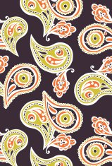 Paisley. Endless pattern with paisley. Seamless background.