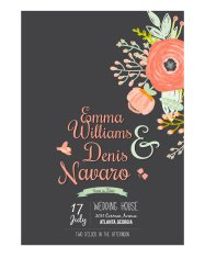 Wedding romantic floral Save the Date invitations cards