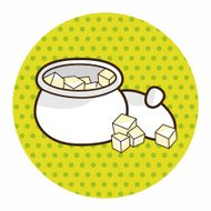 Sugar cubes theme elements vector,eps