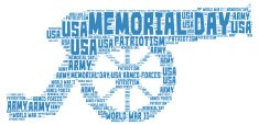 Memorial day - word cloud